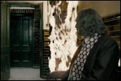אלבוס דמבלדור מעלה באש את הארון של טום רידל, לחש אילם